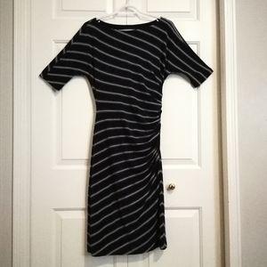 Ralph Lauren Striped Ruched Dress